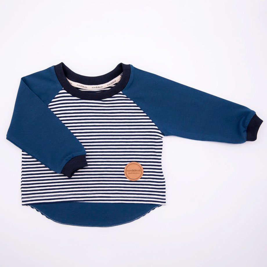 MIMOOKIDS - EASY DRESSING PETROL-NAVY STRIPES (2)