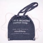 mimOOkids Accessories Recycled Cotton Backpack Dark Denim (1)