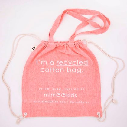 mimOOkids Accessories Recycled Cotton Backpack Pink (1)