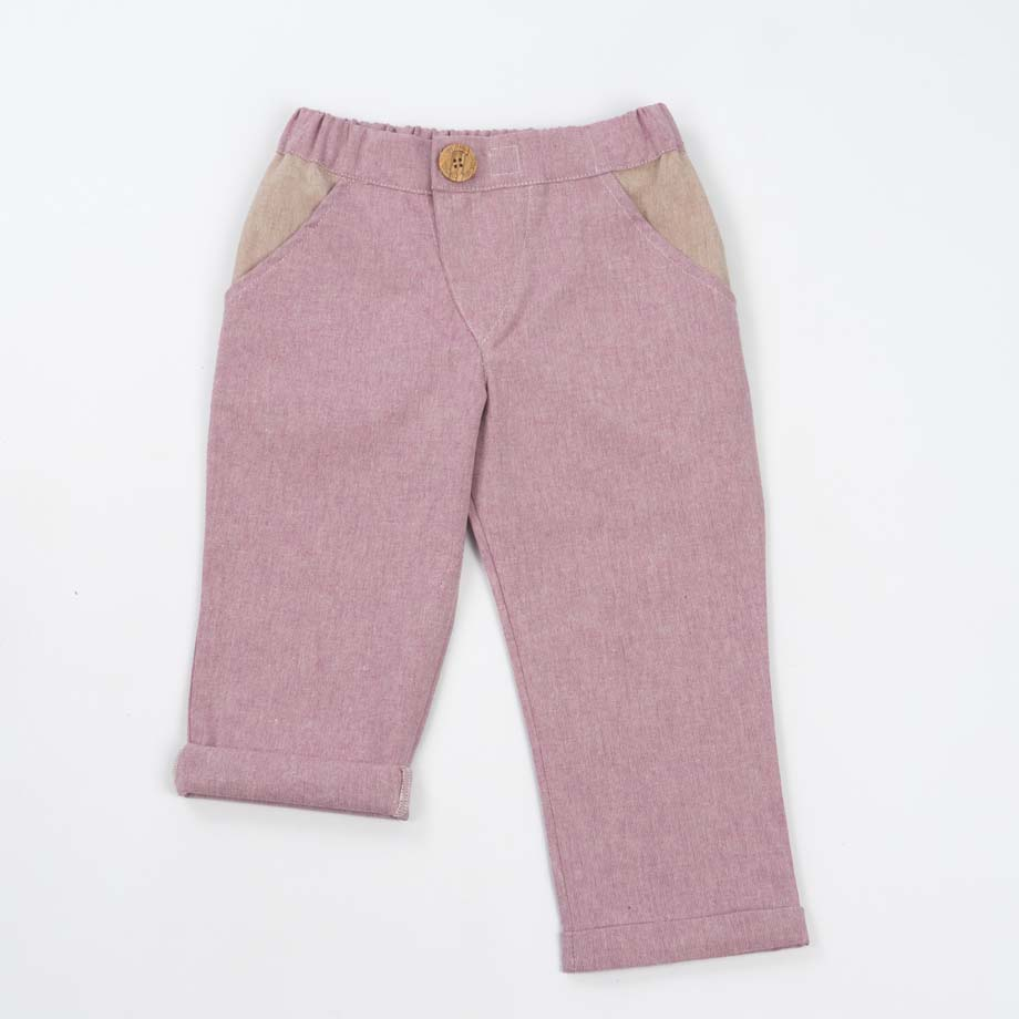 mimOOkids Bottoms Close-Me Pant Rose Recycled Cotton (1)