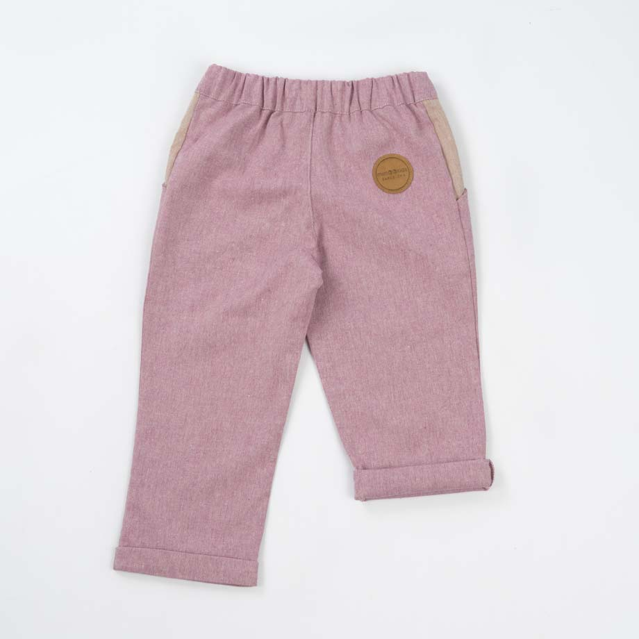mimOOkids Bottoms Close-Me Pant Rose Recycled Cotton (2)