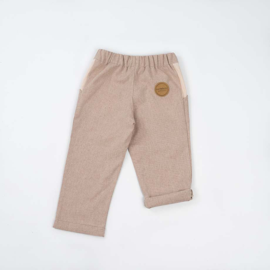 mimOOkids Bottoms Close-Me Pant Sand Recycled Cotton (3)