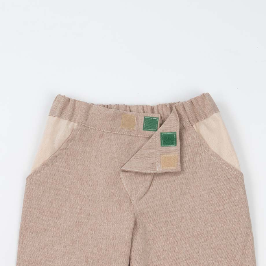 mimOOkids Bottoms Close-Me Pant Sand Recycled Cotton (5)