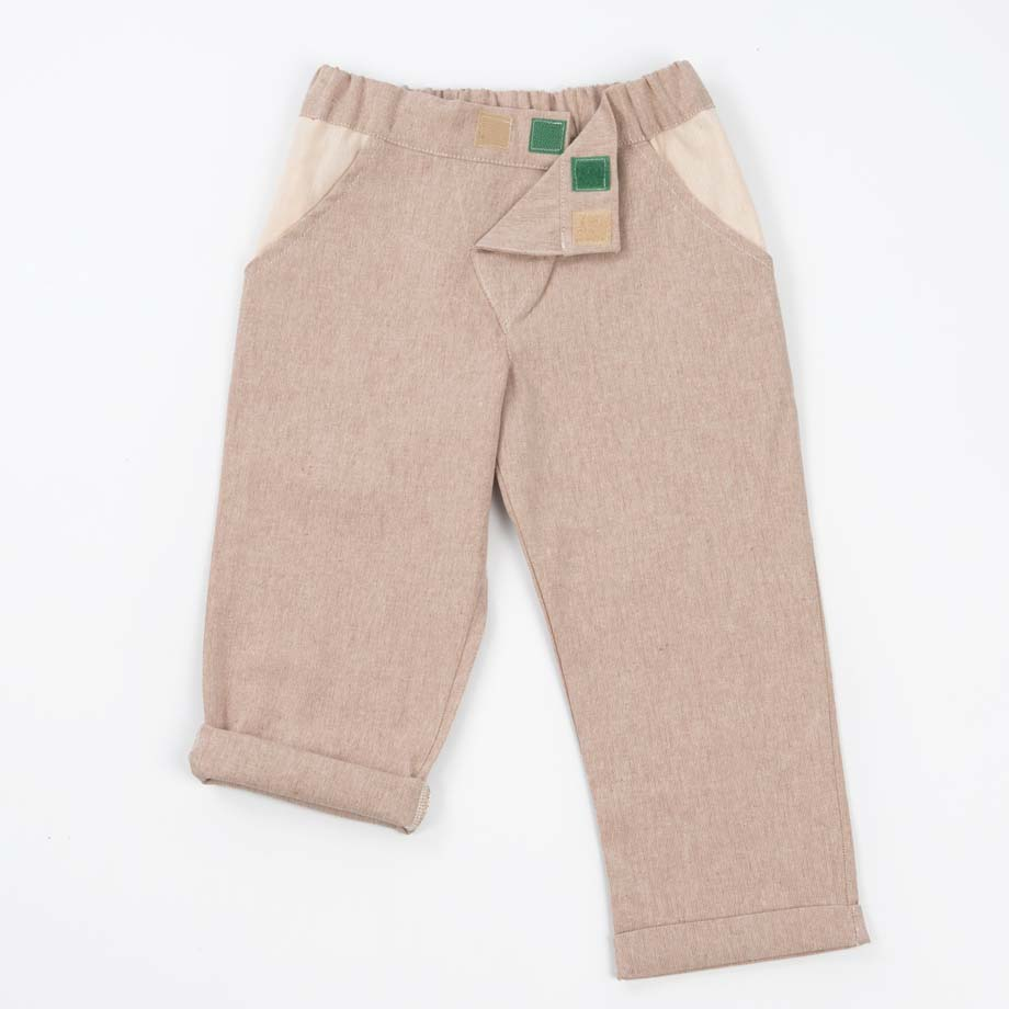 mimOOkids Bottoms Close-Me Pant Sand Recycled Cotton (6)