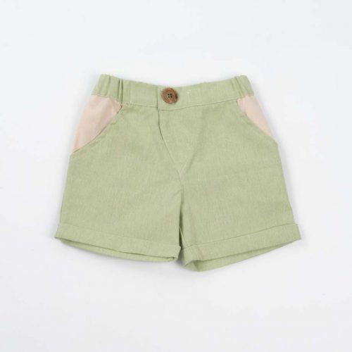 mimOOkids Bottoms Close-Me Short Pistacho Recycled Cotton (2)