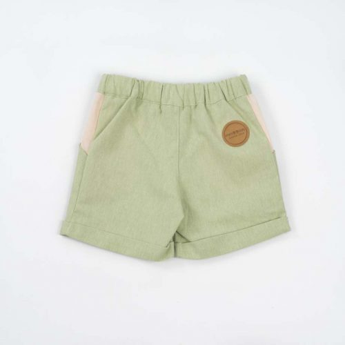 mimOOkids Bottoms Close-Me Short Pistacho Recycled Cotton (4)