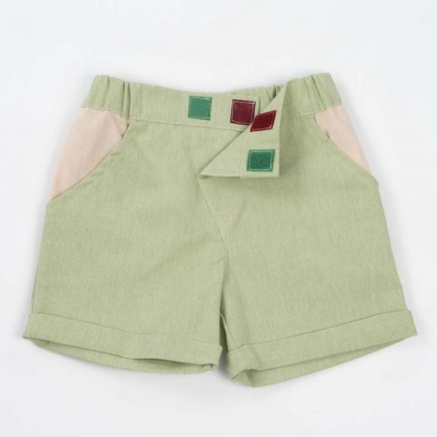mimOOkids Bottoms Close-Me Short Pistacho Recycled Cotton (8)