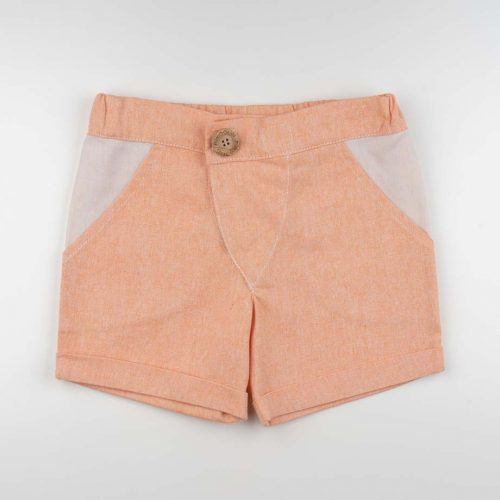mimOOkids Bottoms Shorts Mandarina Recycled Cotton (2)