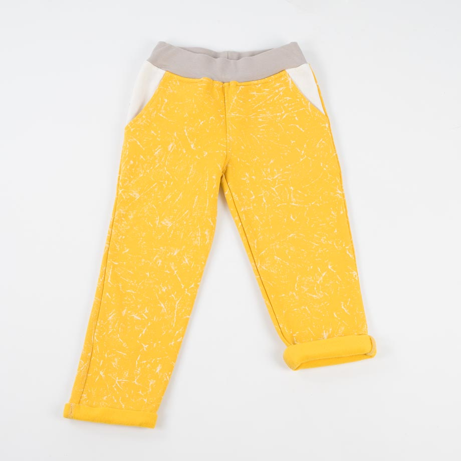 mimOOkids Bottoms pull-me-up pant marble yellow (1)