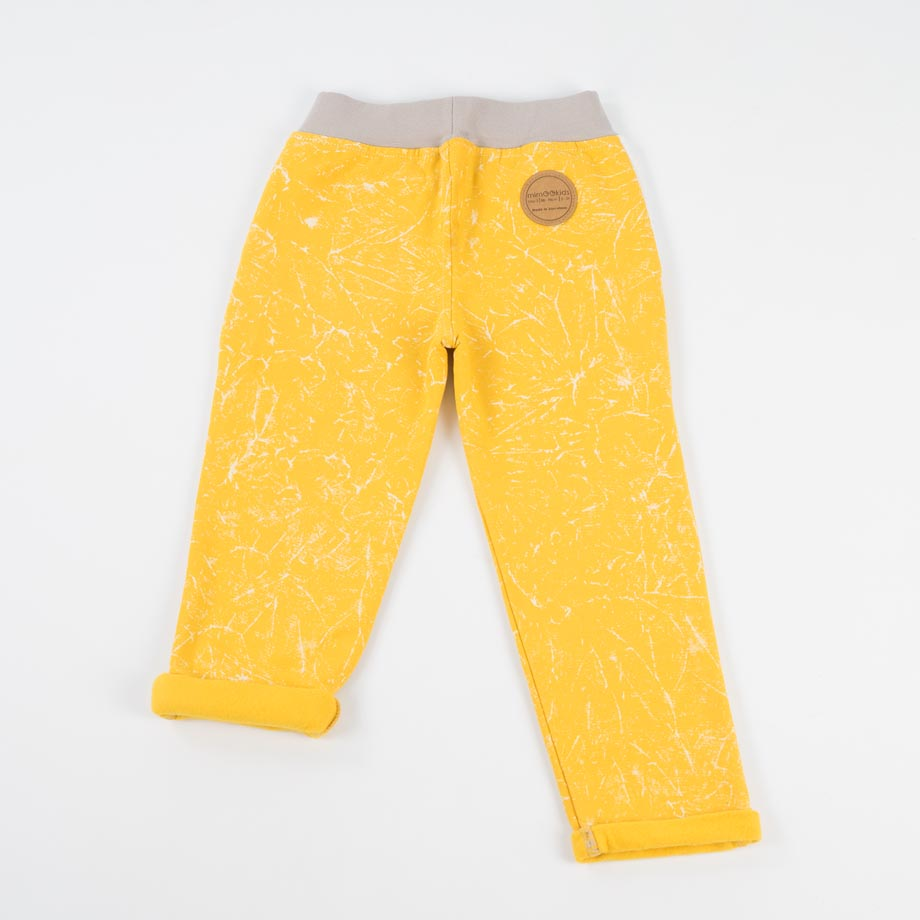mimOOkids Bottoms pull-me-up pant marble yellow (2)