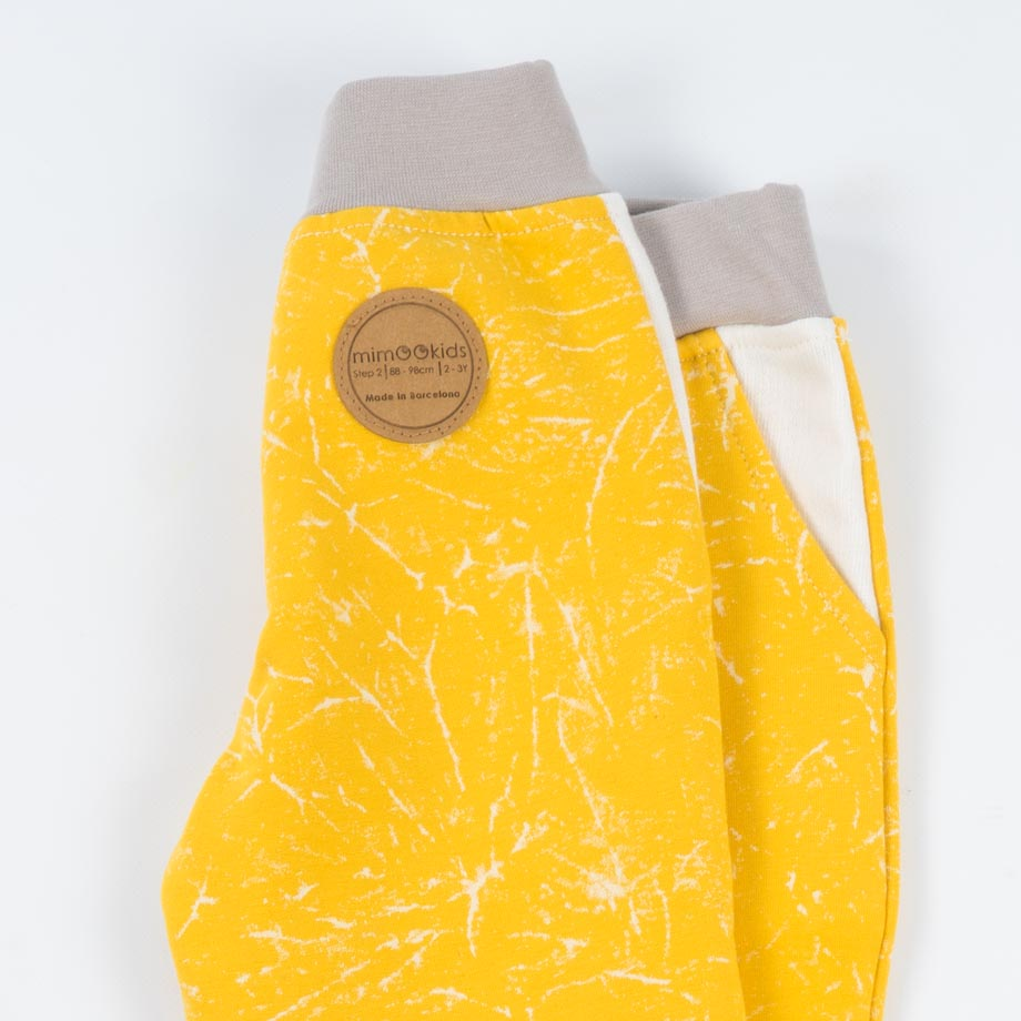 mimOOkids Bottoms pull-me-up pant marble yellow (3)