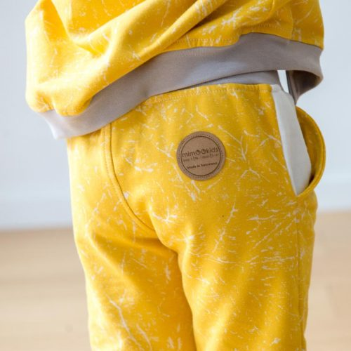 mimOOkids Bottoms pull-me-up pant marble yellow (4)