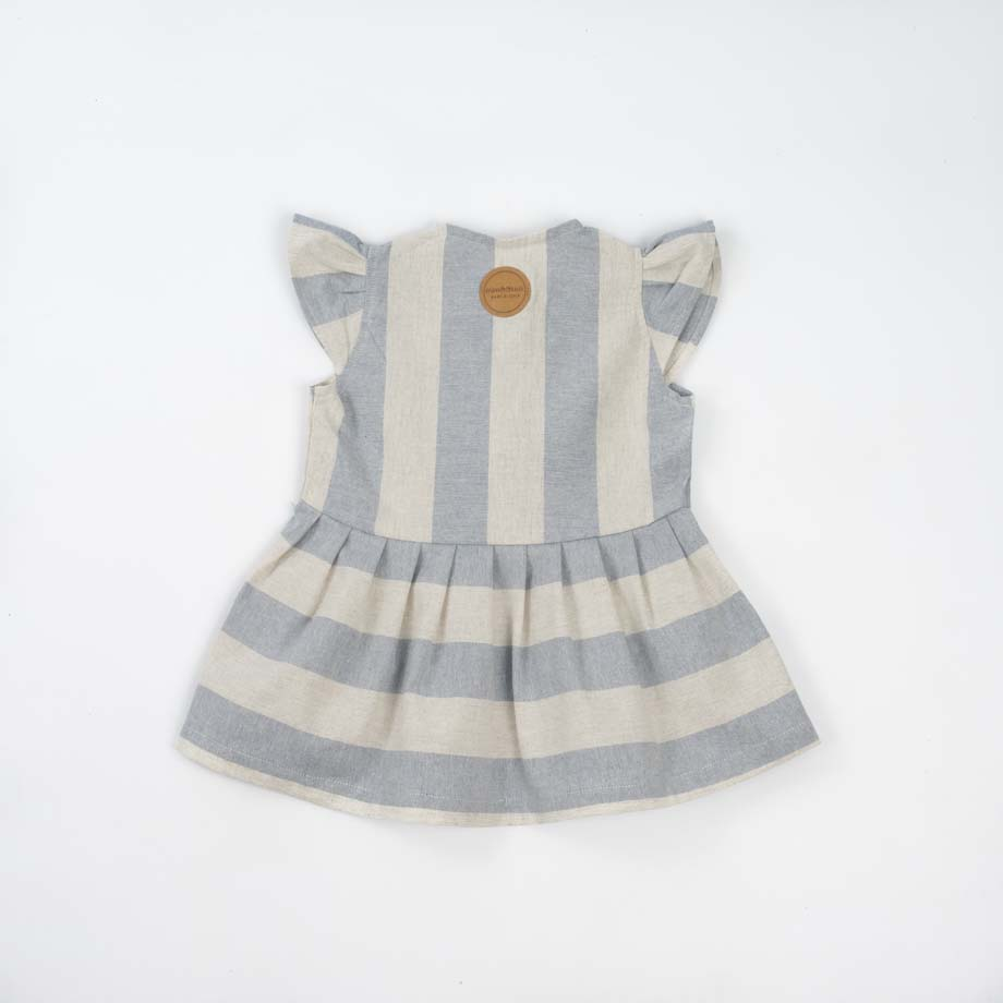 mimOOkids Easy - Dress Baby Blue Stripes (2)