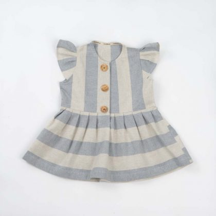 mimOOkids Easy - Dress Baby Blue Stripes (4)