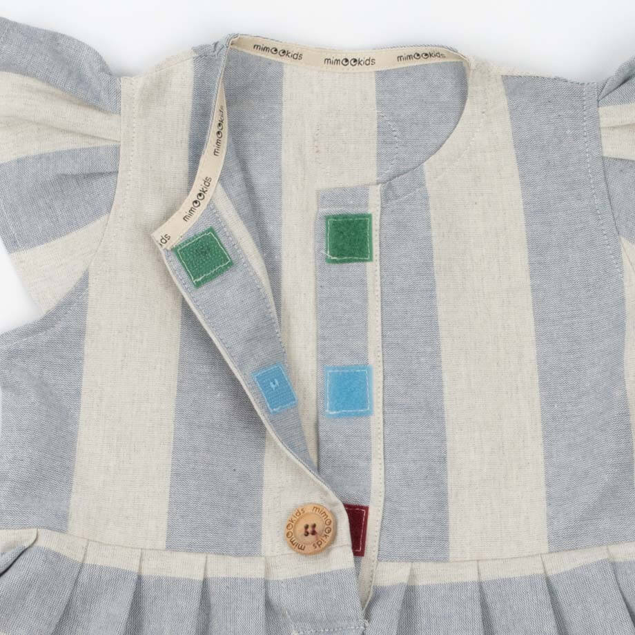 mimOOkids Easy - Dress Baby Blue Stripes (5)