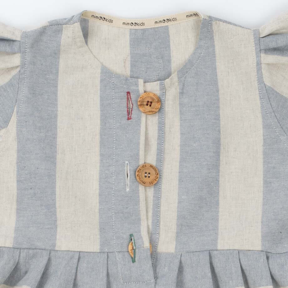 mimOOkids Easy - Dress Baby Blue Stripes (6)