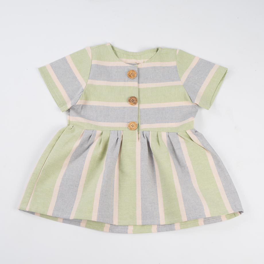 mimOOkids Easy-Dress Stripes Pistacho (1)