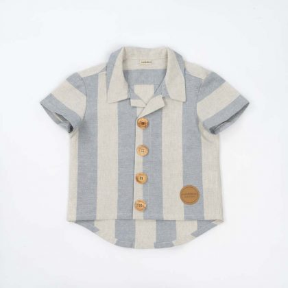 mimOOkids Top Close-Me Shirt Baby Blue Stripes (1)