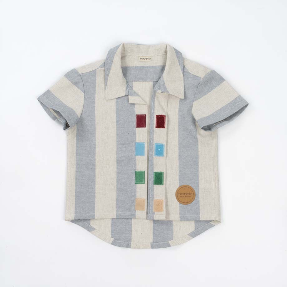 mimOOkids Top Close-Me Shirt Baby Blue Stripes (9)