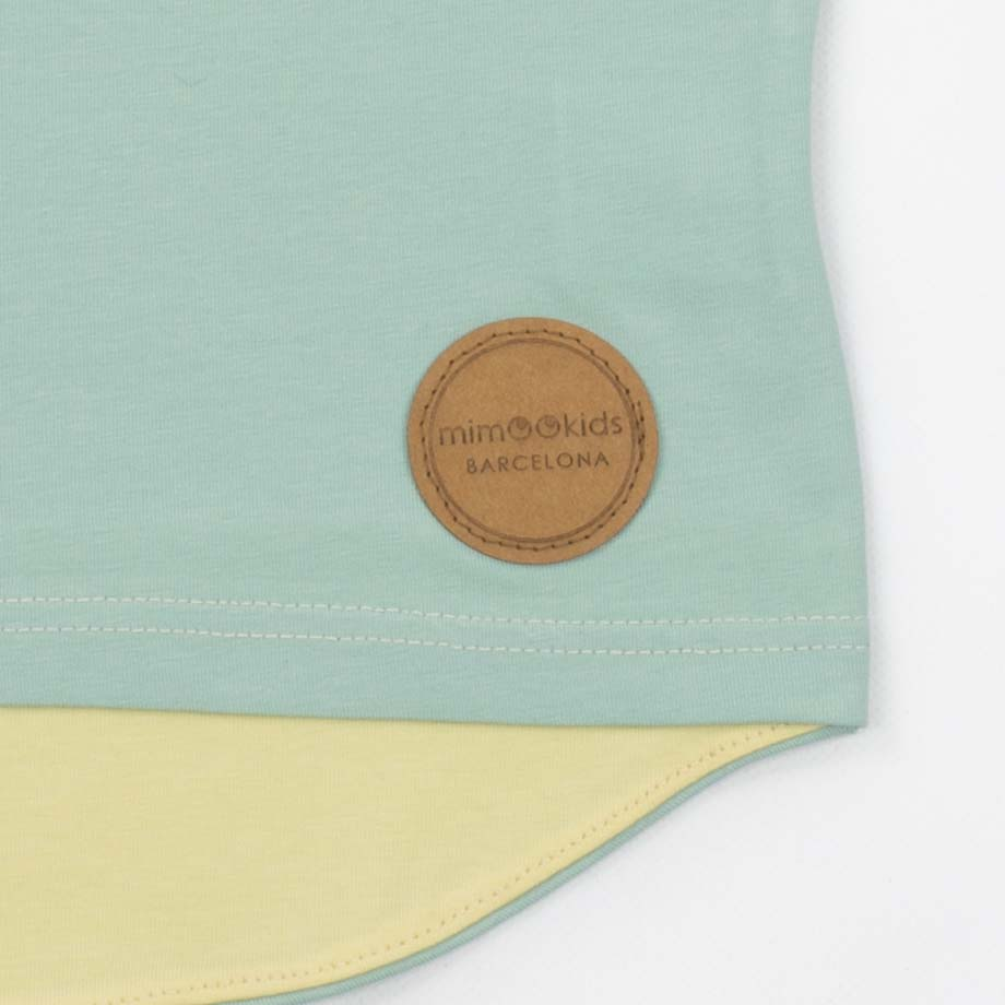 mimOOkids Top Easy-Dressing Shirt Short Sleeve Vainilla Mint (2)