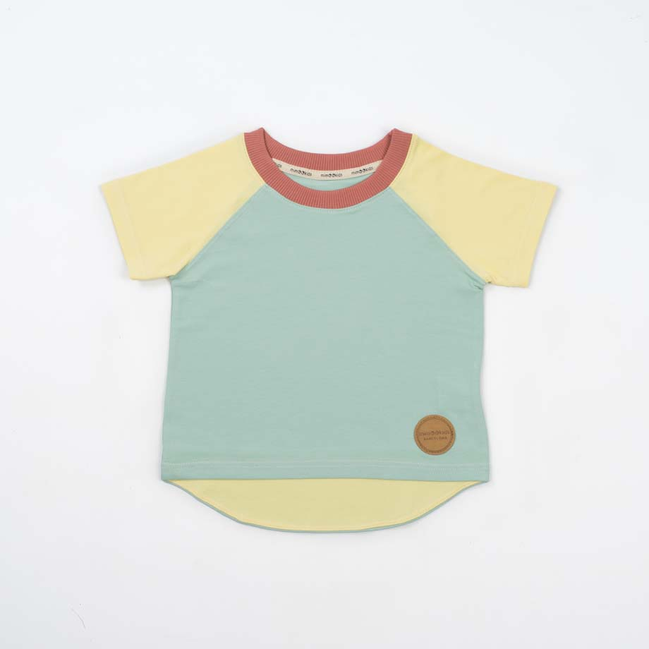 mimOOkids Top Easy-Dressing Shirt Short Sleeve Vainilla Mint (3)