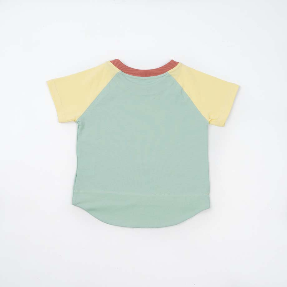 mimOOkids Top Easy-Dressing Shirt Short Sleeve Vainilla Mint (4)
