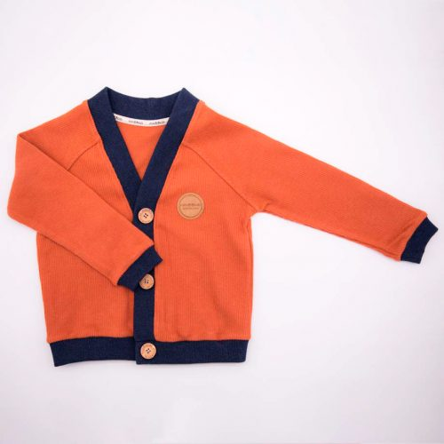 mimOOkids Tops Close-Me Cardigan Caramel Corduray (1)