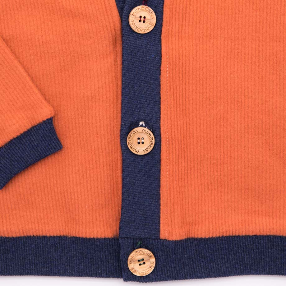 mimOOkids Tops Close-Me Cardigan Caramel Corduray (4)