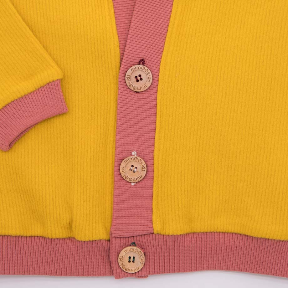 mimOOkids Tops Close-Me Cardigan Honey Corduray (2)