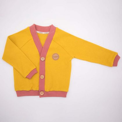 mimOOkids Tops Close-Me Cardigan Honey Corduray (3)
