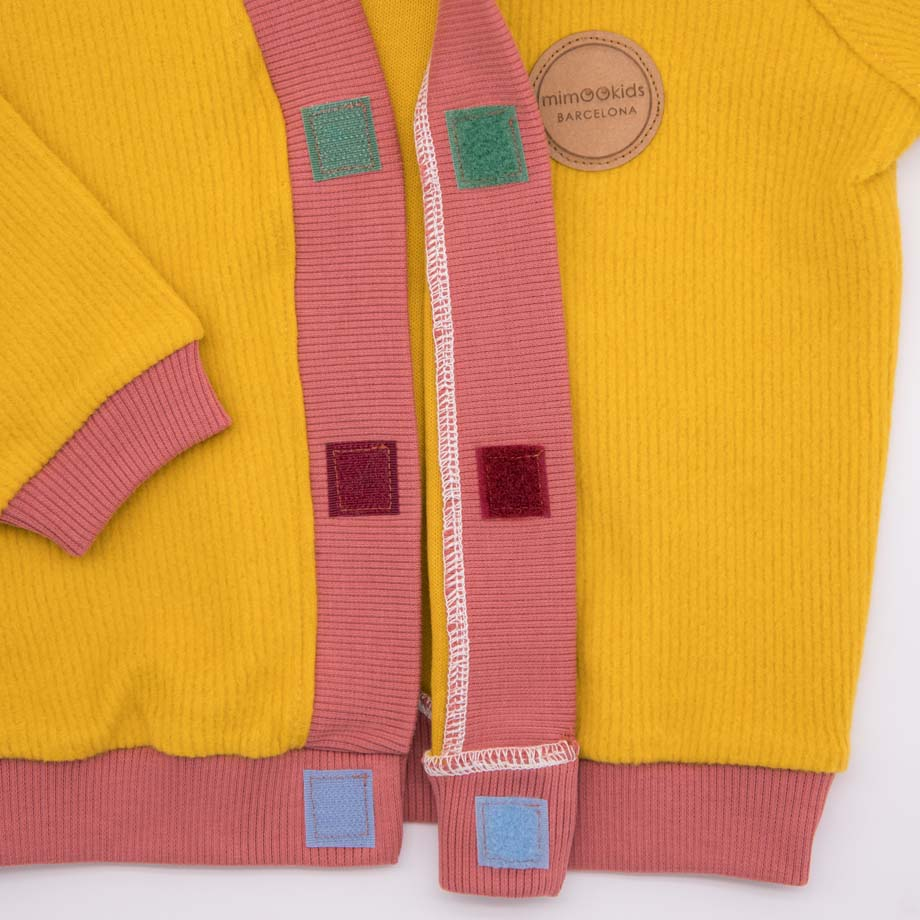 mimOOkids Tops Close-Me Cardigan Honey Corduray (4)