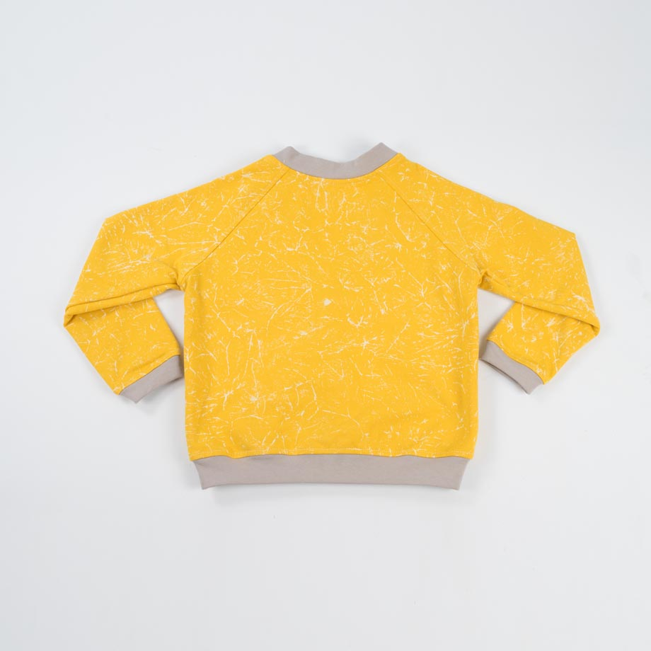 mimOOkids Tops Close-Me Cardigan Marble Yellow (2)
