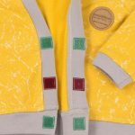 mimOOkids Tops Close-Me Cardigan Marble Yellow (3)