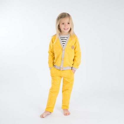 mimOOkids Tops Close-Me Cardigan Marble Yellow (6)
