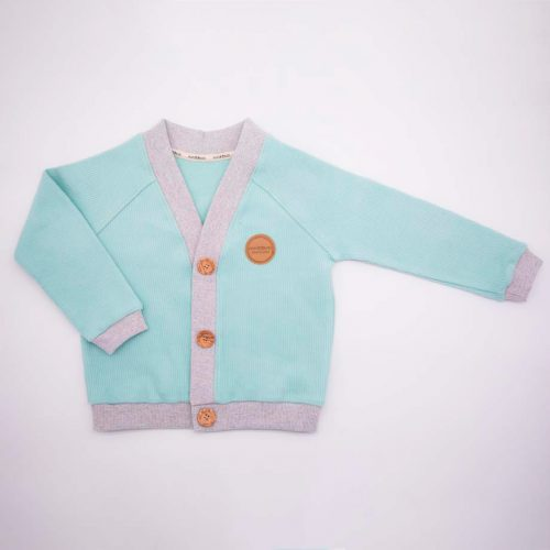 mimOOkids Tops Close-Me Cardigan Mint Corduray (2)