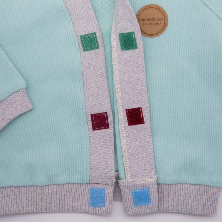 mimOOkids Tops Close-Me Cardigan Mint Corduray (3)
