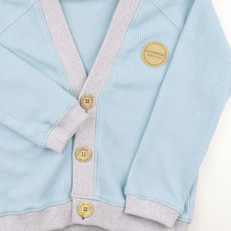 mimOOkids Tops Close-Me Cardigan Mint Corduray (4)