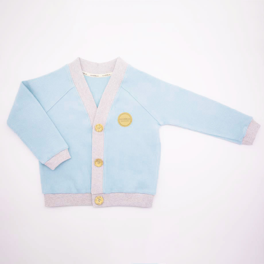 mimOOkids Tops Close-Me Cardigan Mint Corduray (6)