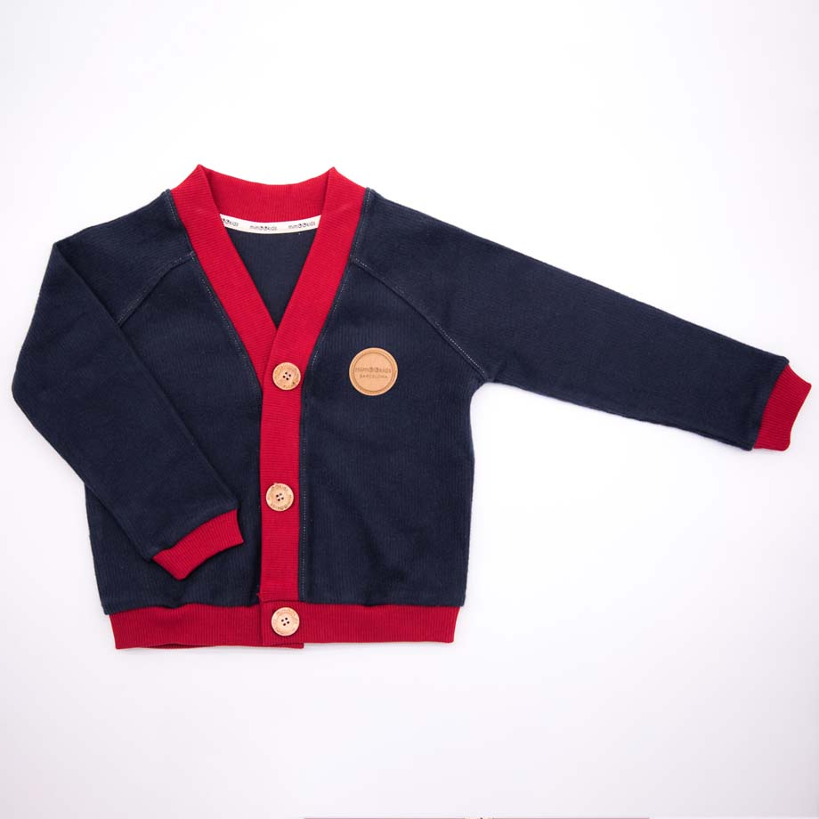 mimOOkids Tops Close-Me Cardigan Navy Chili Corduray (1)