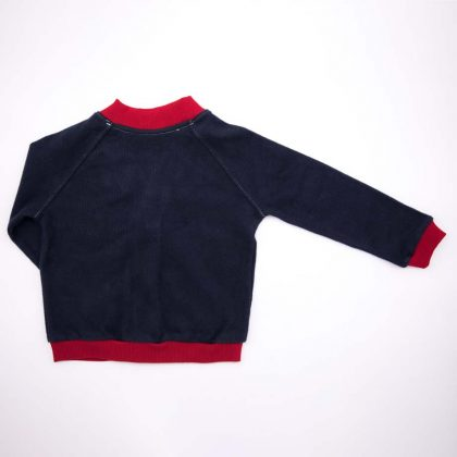 mimOOkids Tops Close-Me Cardigan Navy Chili Corduray (2)