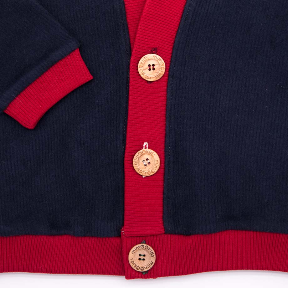 mimOOkids Tops Close-Me Cardigan Navy Chili Corduray (4)