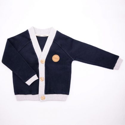 mimOOkids Tops Close-Me Cardigan Navy Grey Corduray (3)