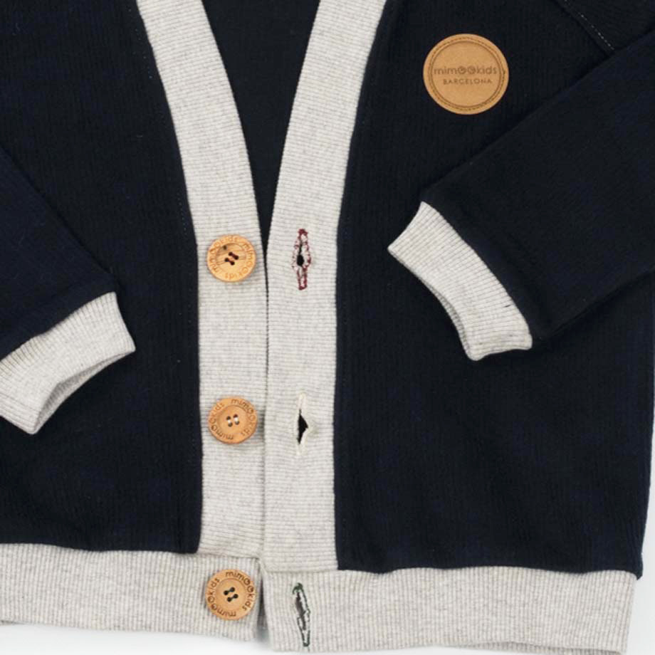mimOOkids Tops Close-Me Cardigan Navy Grey Corduray (4)