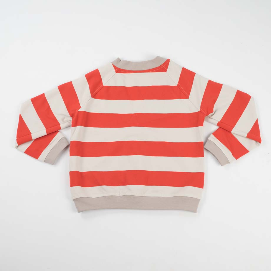 mimOOkids Tops Close-Me Cardigan Red Stripes (1)
