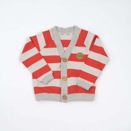 mimOOkids Tops Close-Me Cardigan Red Stripes (5)