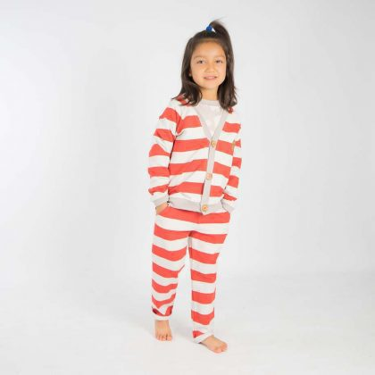 mimOOkids Tops Close-Me Cardigan Red Stripes (7)
