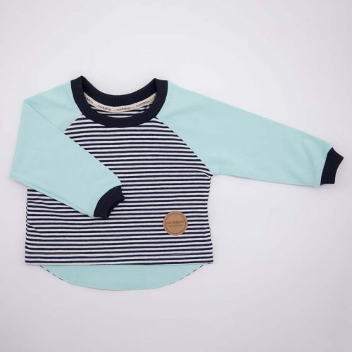 mimOOkids Tops Easy-Dressing Shirt Long Sleeve Stripes Mint (2)