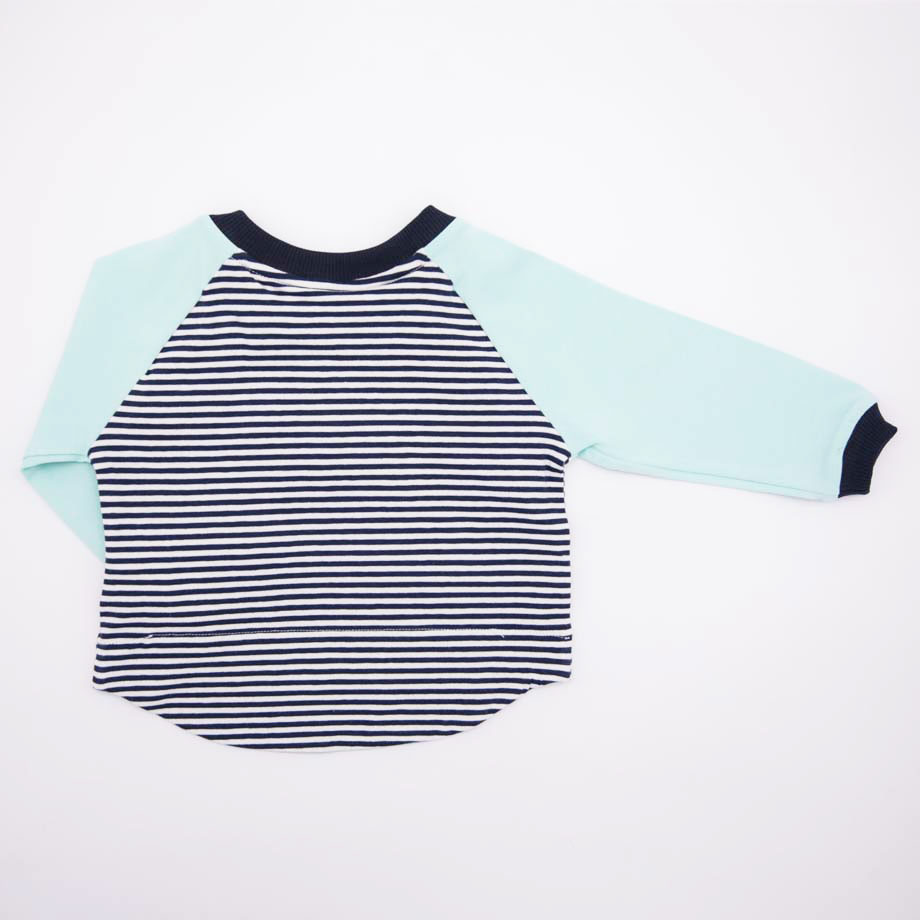 mimOOkids Tops Easy-Dressing Shirt Long Sleeve Stripes Mint (3)