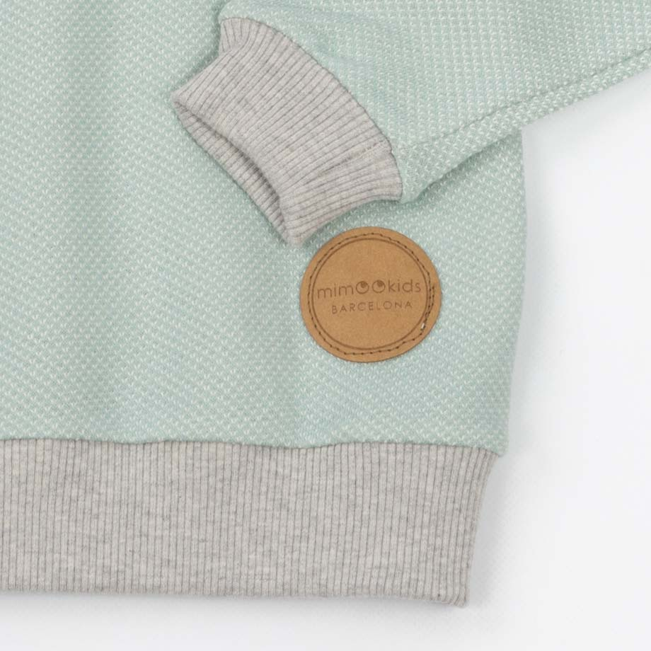 mimOOkids Tops Easy-Dressing Sweater Mint Pique (1)