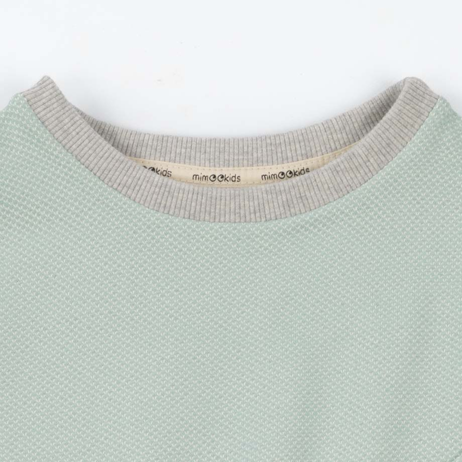 mimOOkids Tops Easy-Dressing Sweater Mint Pique (4)